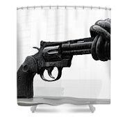 Non Violance Shower Curtain