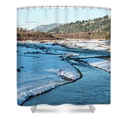 Nooksack River On A December Afternoon Shower Curtain