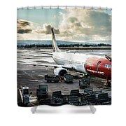 Norwegian Jet Shower Curtain
