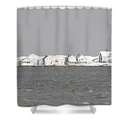 Nor'easter Hits Sandy Neck Shower Curtain