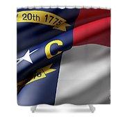Norh Carolina State Flag Shower Curtain