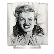 Norma Jean Painting Shower Curtain