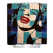 Norma Smiles On Us Shower Curtain