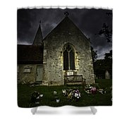 Norman Church At Lissing Hampshire England Shower Curtain
