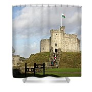 Norman Keep At Cardiff Castle Shower Curtain