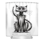 Norman The Cat Shower Curtain