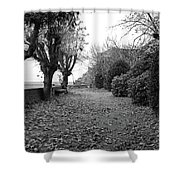 Normandy Black And White Shower Curtain