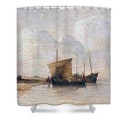 Normandy Coast Shower Curtain