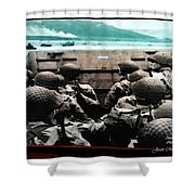 Normandy Soldiers Shower Curtain