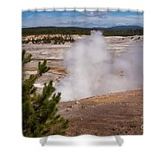Norris Geyser Basin One Shower Curtain