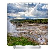 Norris Geyser Basin Shower Curtain