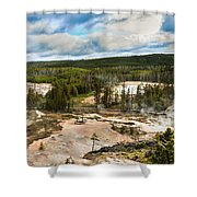 Norris Geyser Basin Shower Curtain