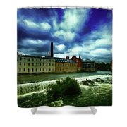 Norrkoping Waterfall Shower Curtain