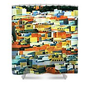 North African Townscape Shower Curtain