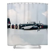 North American B-25 Hot Gen -starboard Side Shower Curtain