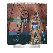 North American Indian Contemplating Shower Curtain