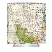North American Indian Tribes, 1833 Shower Curtain