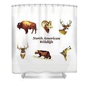 North American Wildlife Shower Curtain