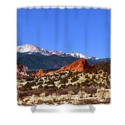 North And South Gateway Rock Shower Curtain
