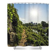 North Bank Trail Cliff Shower Curtain