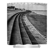 North Beach, Heacham, Norfolk, England Shower Curtain by John Edwards