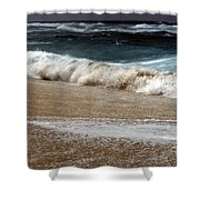 North Beach, Oahu V Shower Curtain