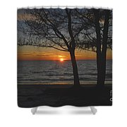 North Beach Sunset Shower Curtain by David Lee Thompson