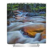 North Branch Rapid In Spring  Shower Curtain