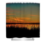 North Bridge Park Sunset Shower Curtain