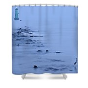 North Bull Lighthouse Dublin Shower Curtain