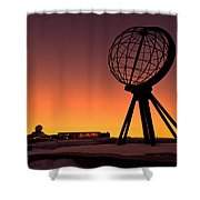 North Cape Norway At The Northernmost Point Of Europe Shower Curtain