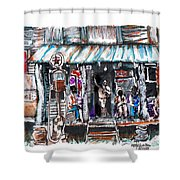 North Carolina 1939 The Depression Shower Curtain