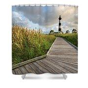 North Carolina Bodie Island Lighthouse Summer Shower Curtain