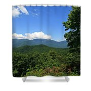 North Carolina Mountains In The Summer Shower Curtain