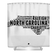 North Carolina Word Cloud Map 2 Shower Curtain