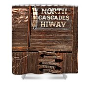 North Cascade Hiway Signs Shower Curtain