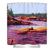 North Channel Islands Shower Curtain