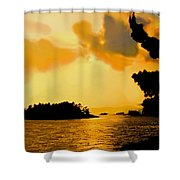 North Channel Sunset Shower Curtain