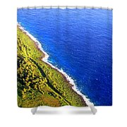 North Coast Of Tinian At Sunrise Shower Curtain