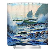 North Coast Surf Shower Curtain