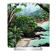 North Coast Tobago Shower Curtain
