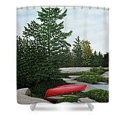 North Country Canoe Shower Curtain