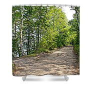 North Country Trail In Pictured Rocks National Lakeshore-michigan  Shower Curtain