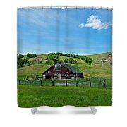 North Dakota Barn Shower Curtain