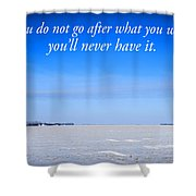 North Dakota Prairie Landscape With Inspirational Text Shower Curtain