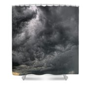 North Dakota Thunderstorm Shower Curtain