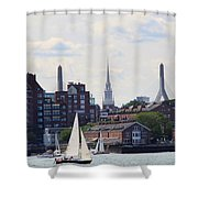 North End  Of Boston  Shower Curtain