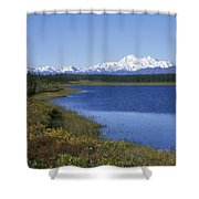 North Face Of Mount Mckinley, Lake Shower Curtain