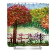 North Fence Shower Curtain