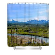 North Fork Flathead River Shower Curtain